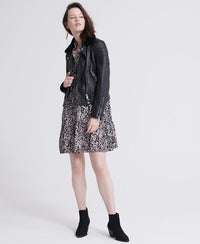 Premium Winter Leather Biker - Black - Superdry.sg