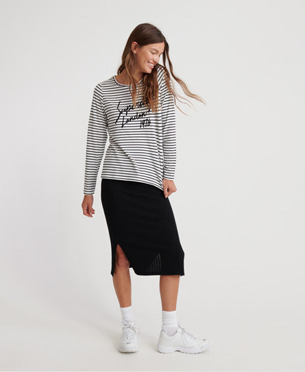 Adelina Graphic Top - White - Superdry.sg
