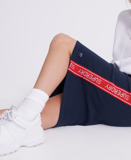 Orla Sweat Pencil Skirt - Navy - Superdry.sg