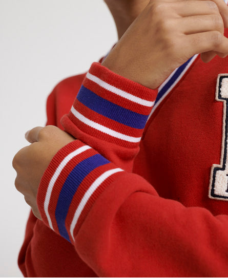 Campus Sweat Dress - Red - Superdry.sg
