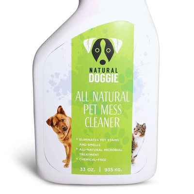 chemical free all natural pet mess cleaner front label