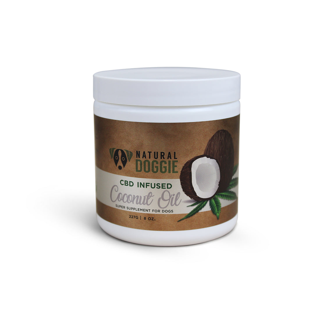 Natural Doggie Hemp-Infused Virgin Coconut Oil