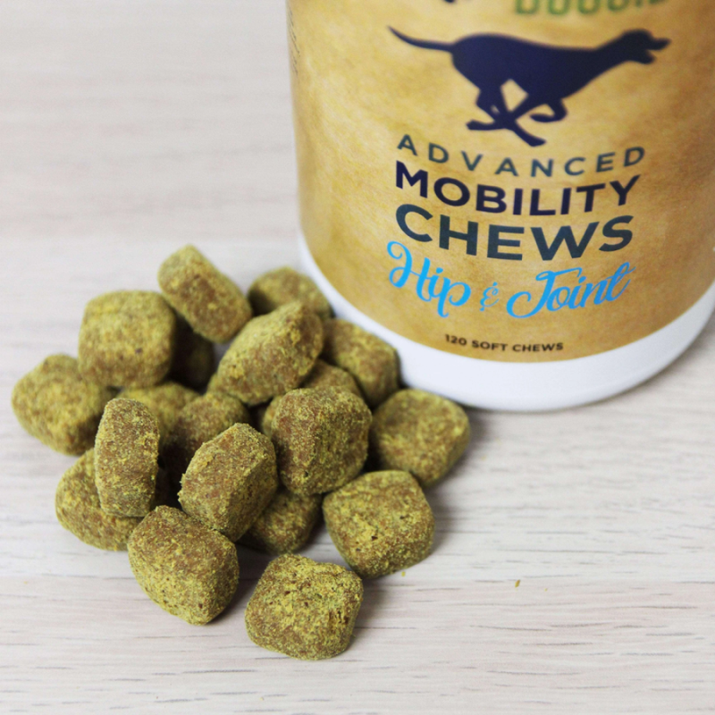 Natural Doggie Advanced Mobility Chews - Advanced Hip and Joint Formula with  Glucosamine, MSM, Chondroitin and Organic Turmeric