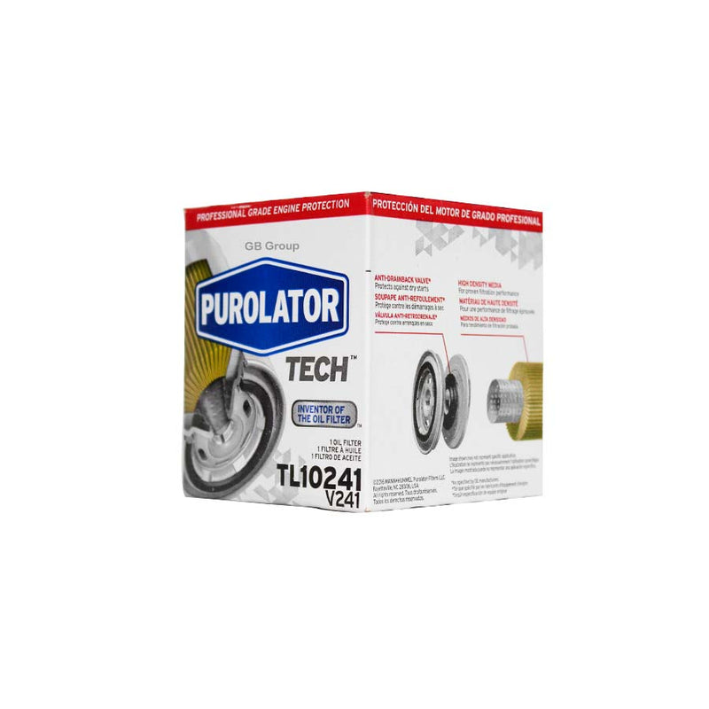 TL10241 Purolator Tech filtro para aceite de Dodge Neon 4 cilindros, 2.0 litros 1997-05. PH3614 GP-58 OF-3614 51348.