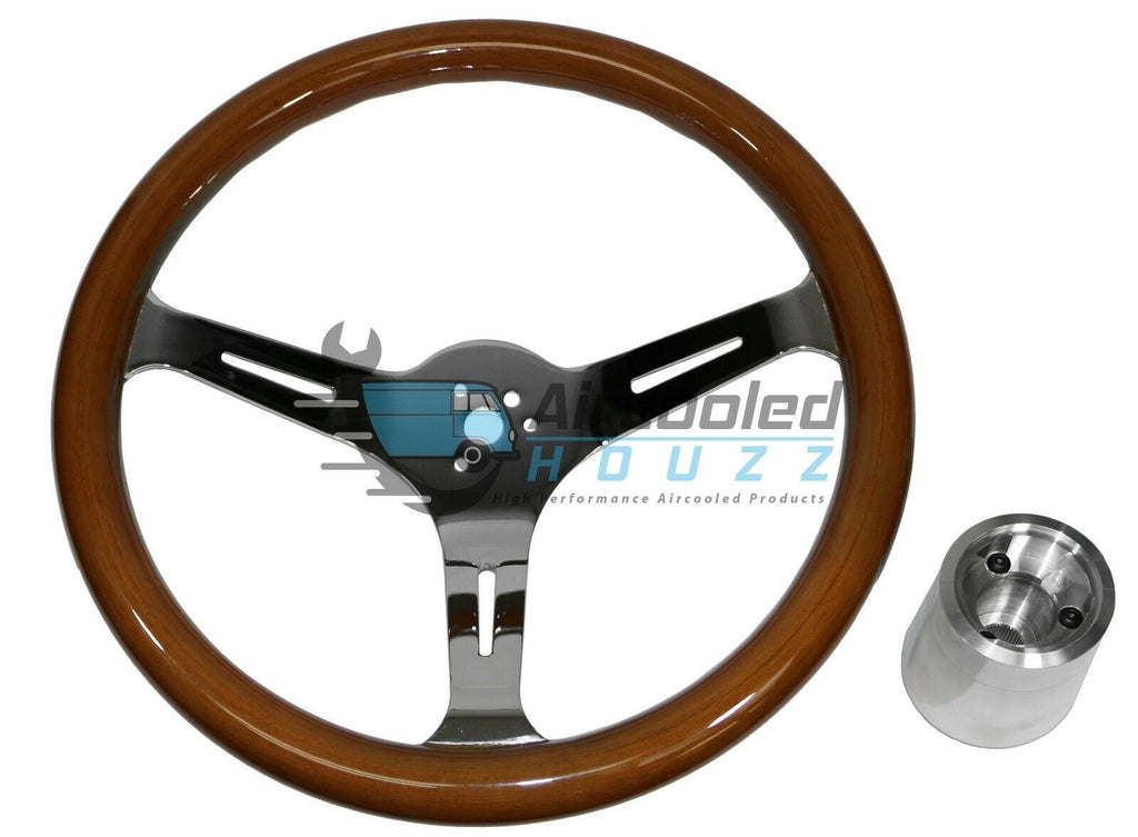 VW Bug Ghia EMPI (79-4026) Classic Wood Steering Wheel
