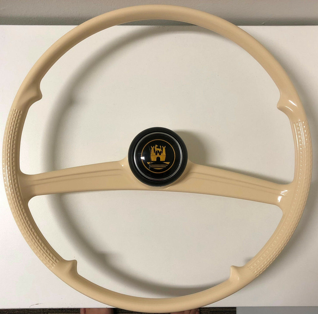 Reproduction of Petri Rometsch Steering Wheel Batwing VW Beetle with Horn Button
