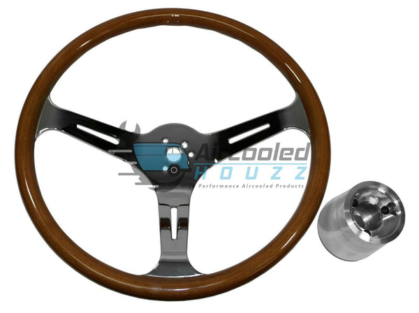 VW Bug Ghia EMPI (79-4028) Classic Wood Steering Wheel