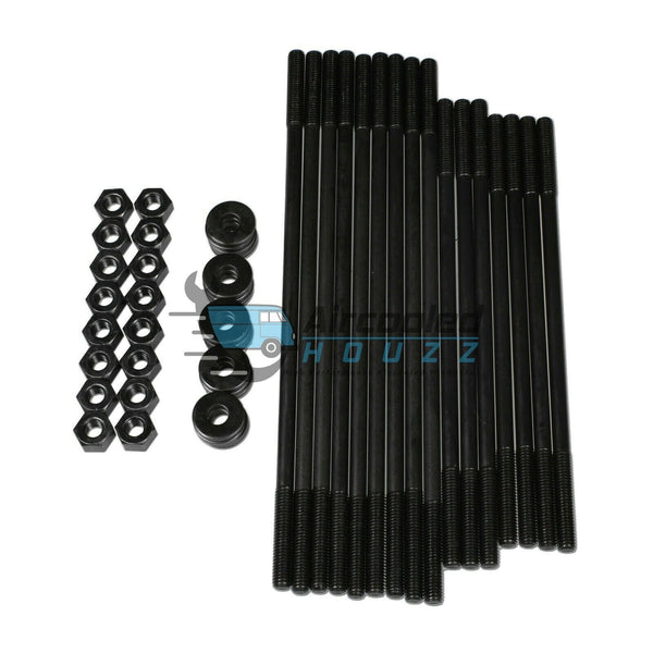 10MM CHROMOLY +12.7mm Longer Head Stud Kit For Dual Port Heads, 4010