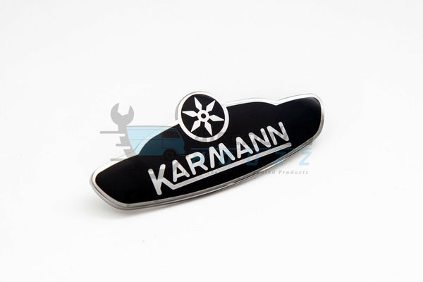 VW Karmann Ghia Emblem Badges Steel Black 1961-1979 Bat-Ear Convertible & Coupe