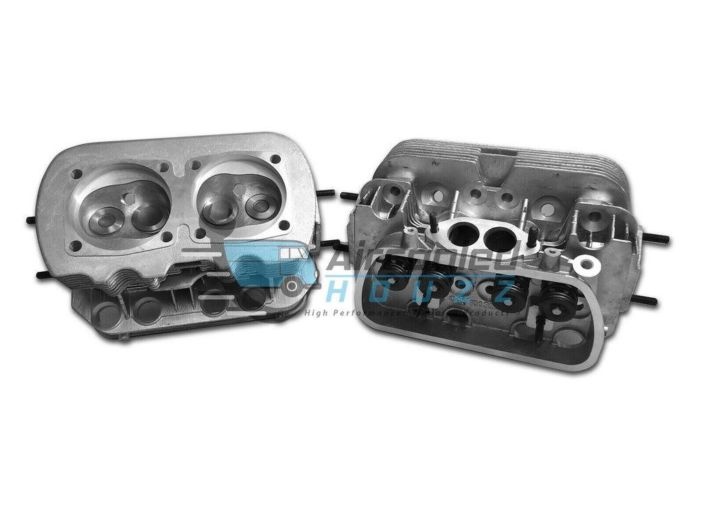 New Pair VW 1600 Dual Port Cylinder Heads W/Dual Springs 85mm Bore