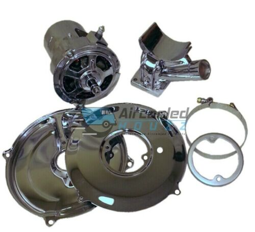 VW Bug Bus 60 Amp Chrome Alternator Kit Type 1 and 2 VOLKSWAGEN Bug Bus Ghia