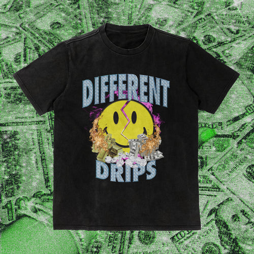 Broken Smiley Champion T-Shirt - Different Drips