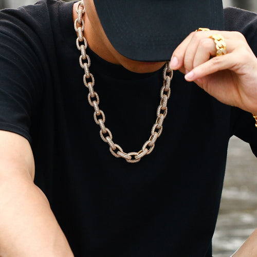 10mm Iced Out Rolo Chain - Different Drips