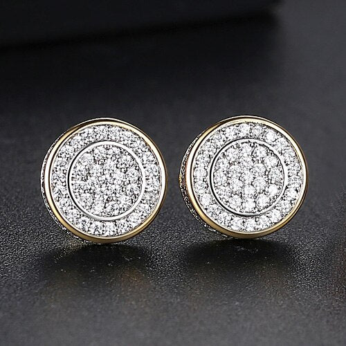 Classic Round Cut Stud Earrings - Different Drips