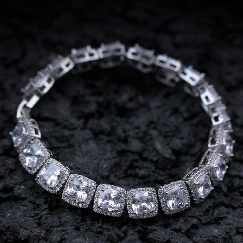 Glacier Clustered Tennis Bracelet - Different Drips