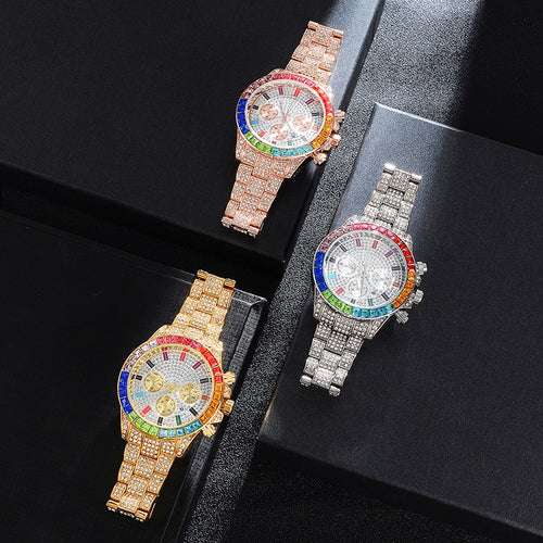 Iced Multi-Color Watch - Different Drips