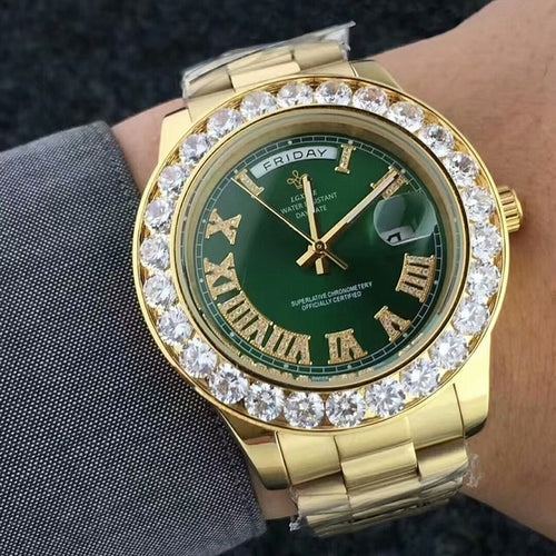 Gold Roman Numeral Watch - Different Drips