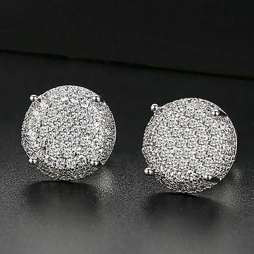 10mm Round Cut Stud Earrings - Different Drips