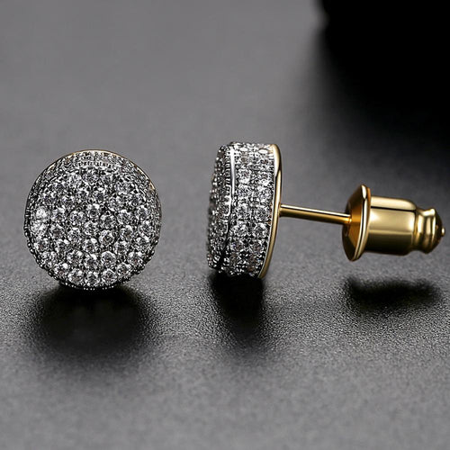 9MM Round Cut Stud Earrings - Different Drips
