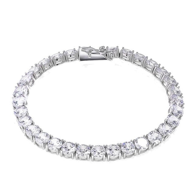 3-6MM Solid 925 Sterling Silver Tennis Bracelet - Different Drips