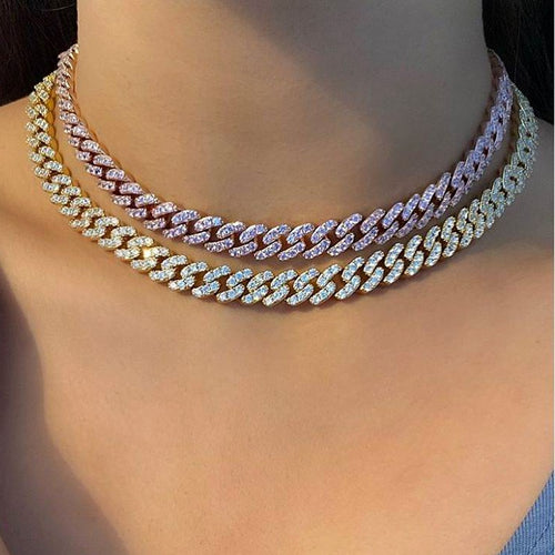 Women's 9mm Diamond Necklace - Different Drips