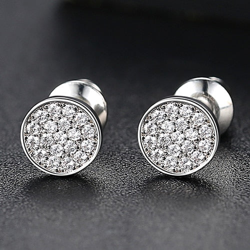 Classic Slim Round Cut Stud Earrings - Different Drips