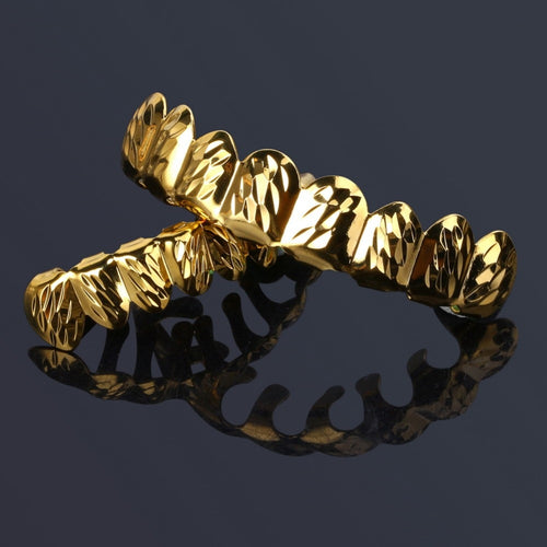 Solid D-cut 18k Gold Plated Grillz - Different Drips