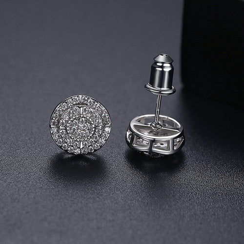 Iced Compas Stud Earrings - Different Drips