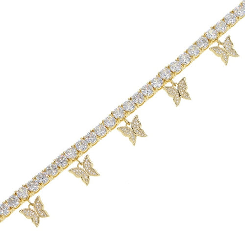 Women's Tennis Butterfly Anklet - Different Drips