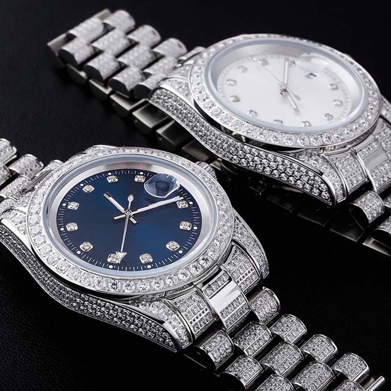 Iced Out Presidential Watch - Different Drips