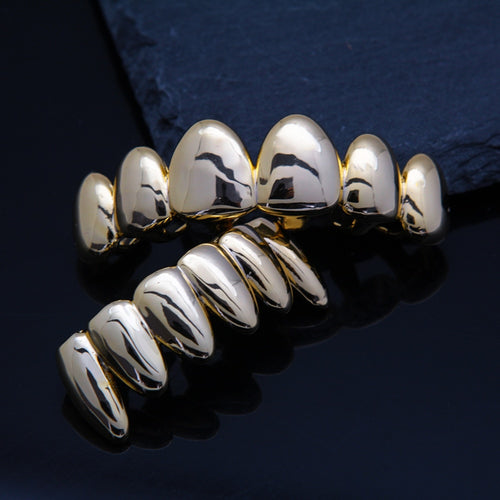 Solid 18k Gold Plated Grillz - Different Drips