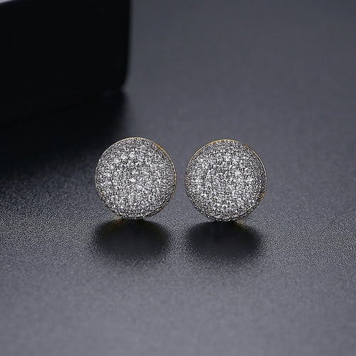 Smooth Round Cut Stud Earrings - Different Drips
