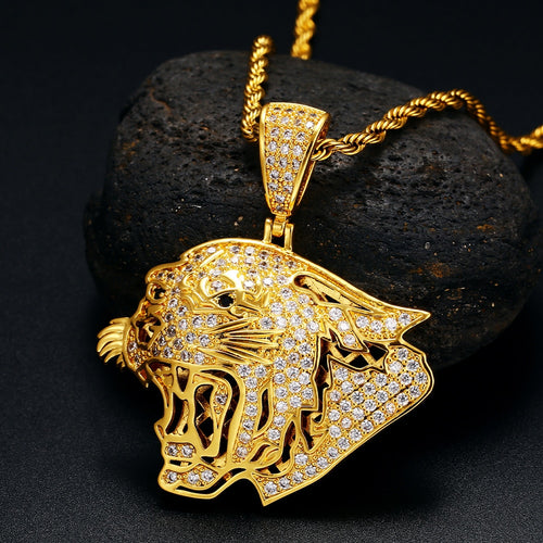 Fierce Tiger Head Pendant - Different Drips