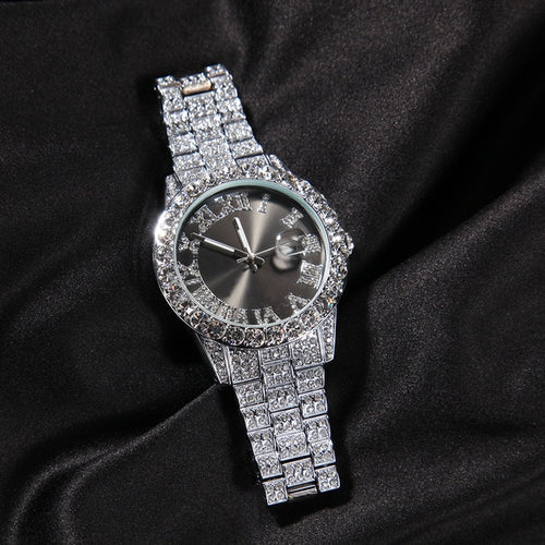 Iced Roman Numeral Quartz Watch - Different Drips
