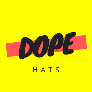 dope hats website logo in yellow