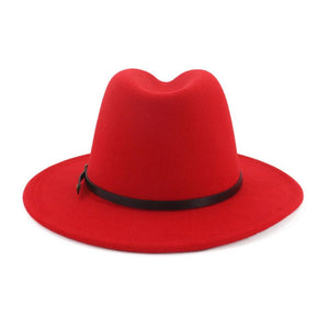 dope hats store cheap size large two tone red and black wide brim fedora