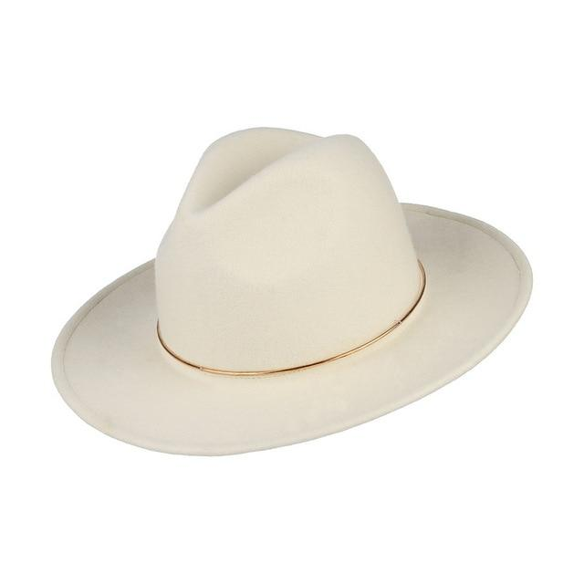 Dope hats store cheap and affordable mens and womens wide brim fedora in white color