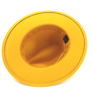 dope hats hermoso yellow unisex fedora bottom