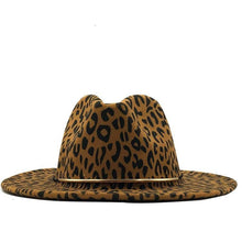 Load image into Gallery viewer, Dope hats store primal leopard and cheetah print wide brim fedora hat