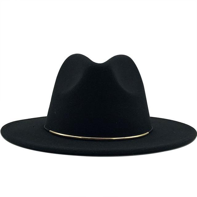 dope hats store women's size large black colored fedora