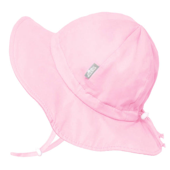 JAN & JUL GRO-WITH-ME 50+ UPF Cotton Floppy Hat - Pink