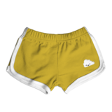Whistle & Flute Kawaii Cloud Running Shorts - Mustard