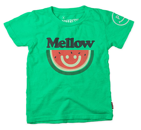 COTTON SHORT SLEEVE TEE (PREFRESH MELLOW) (GREEN)