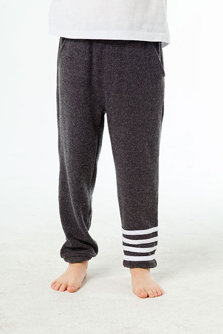 KNIT JOGGERS W/ STRAPPINGS (Black)