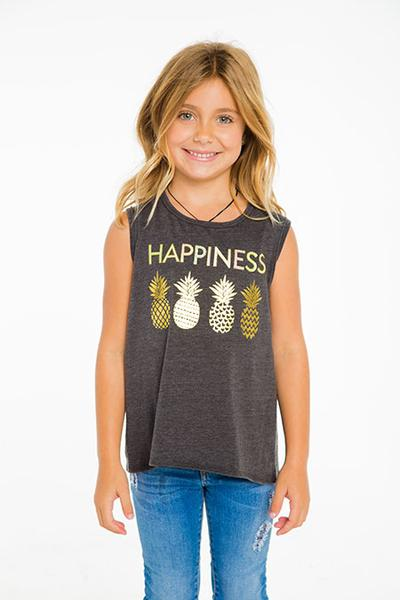 VINTAGE JERSEY FLOUNCY TANK (CHASER KIDS - HAPPINESS) (UNION BLACK)