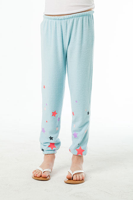 LOVE KNIT COZY SWEATPANT CHASER - STARRY PANT (WATERFALL)