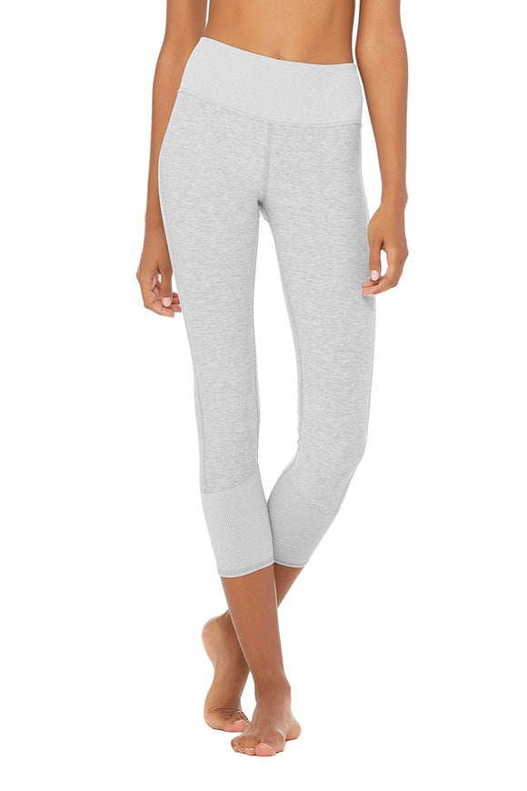 Women's Alo Yoga 7/8 High Waist Lounge Legging - Zinc Heather