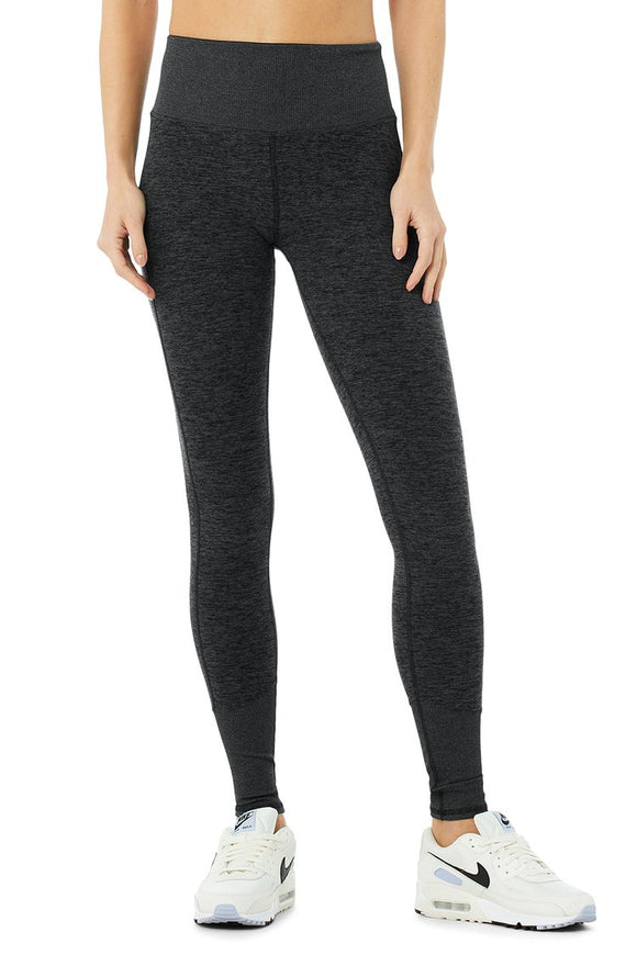 Women's Alo Yoga High Waist Alo Soft Lounge Legging -Dark Heather Grey