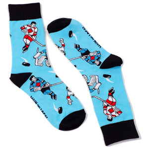 Main and Local Canadian Retro Hockey Players Socks - Adult