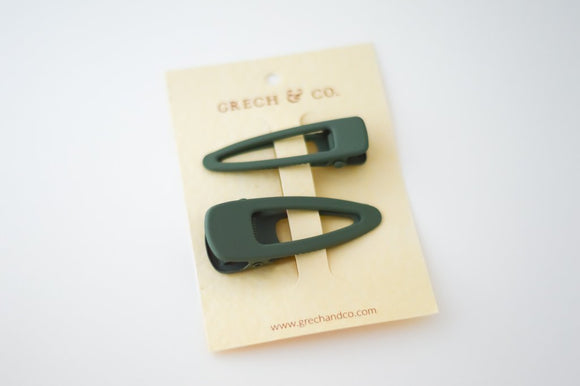 PRE-ORDER - Grech & Co Snap Matte Clip Set of 2 - Fern